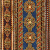 Passage to India - Gilded Ornate Vertical Stripe #2