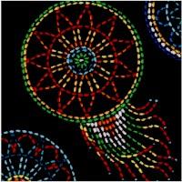 Tucson - Beaded Style Dreamcatchers on Black
