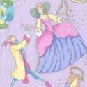 Gilded Fairyland Characters on Lilac - SALE!  LTD. YARDAGE AVAILABLE (.375 YD) MUST BE PURCHASED IN