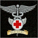 What the Doctor Ordered - Medical Symbols on Black by Dan Morris (FIRE-doctor-X902)