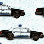 Police Cars on Textured Ivory