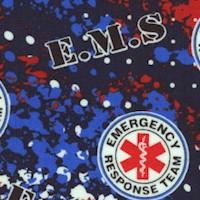 Rescue - Abstract Geo Logo Allover - E.M.S.
