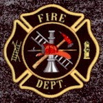 Firefighters and Black Heather Print Logo