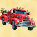Local Heroes - Tossed Vintage Firetrucks #2