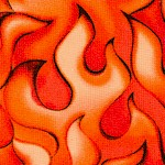 Rock & Roses - Packed Flames by Beverly Ann Stillwell- LTD. YARDAGE AVAILABLE (.5 YD) MUST BE PURCHA