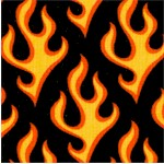 Super Speedway - Hot Flames on Black - LTD. YARDAGE AVAILABLE