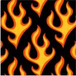 Super Speedway - Hot Flames on Black