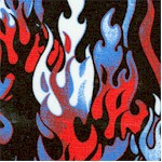Headgear - Dancing Flames in Red  White and Blue