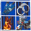 Line of Duty - Police Equipment and Police Dogs in Frames (FIRE-police-L798)