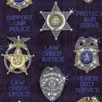 Protect and Serve - Law Enforcement Badges #2 by Dan Morris