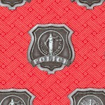 American Heroes - Police and Firefighter Badges on Red