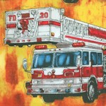 Five Alarm - Firetrucks and Firefighters on Flames by Dan Morris