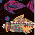 African Inspirations - Colorful Fish by Kaye England