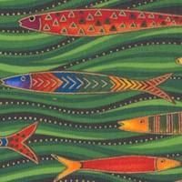 Sea Spirit - Colorful Gilded Fish by Laurel Burch