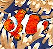 Clownfish and Anemones- LTD.  YARDAGE AVAILABLE