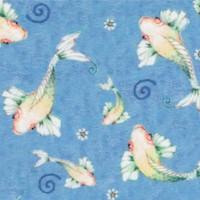 Fancy Flamingos - Tranquil Swimming Koi - SALE! (MINIMUM PURCHASE 1 YARD)