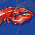 American Coast: Maine Dish - Tossed Lobsters on Blue