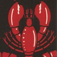 Lobsters on Black by Hoodie