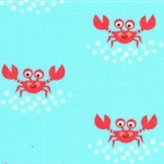 Beachy Keen - Whimsical Crabs on Blue