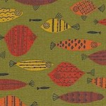 Mid-Century Modern Fish by Kathy Hall