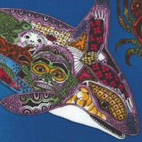 Animal Spirits - Stylized Ocean Creatures by Sue Coccia