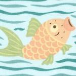 Chinese Take Out - Pastel Fish and Lotus