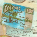 Tropical Dreams - Vintage Maps  Postcards and Fish by Kathleen Francour