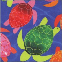 Tropical Breeze - Watercolor Turtles