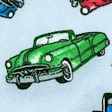 Comfy Flannel - Tossed Vintage Cars on Blue FLANNEL (FLA-cars-F553)