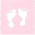 Baby Feet and Hearts on Pink FLANNEL