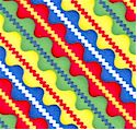 Colorful Diagonal Zigzag Stripe on FLANNEL by Jenny Foltz and Toni Kay