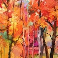 September Morning Trees (Digital)
