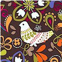 Birds of Norway on Espresso Brown  - BACK IN STOCK!