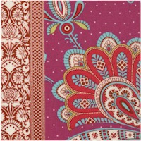 Soul Blossoms - Sari Bloom Double Border in Raspberry by Amy Butler