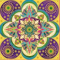 Bollywood Bliss - Gilded Floral Tiles by Jane Spolar