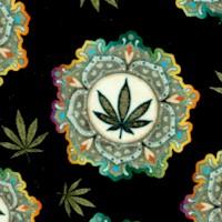 Happy Harvest - Tossed Cannabis Medallions by Dan Morris
