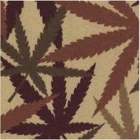Herb - Camo Cannabis Leaves on Beige