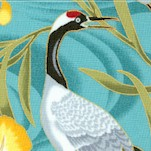 Lotus in Springtime - Magnificent Gilded Cranes and Irises