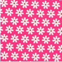 Feeling Groovy - Tiny Retro Daisies on Bright Pink