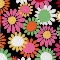 Daisy Delight - Retro Floral on Black