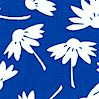 New Traditions - Daisy Silhouettes on Blue by Michal Sparks