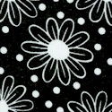 Thingamajig - Daisies and Dots in Black and White