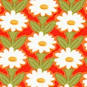 Daisy Days - Perky Daisies on Orange