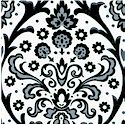Black White and Current II - Delicate Damask