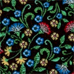 Embroidered Elegance - Floral Scroll by Greta Lynn