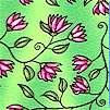 Fantasy Flower on Green