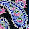 Gilded Royal Windsor Floral Paisley Stripe Coordinate on Black by Carol Doak
