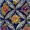 Chatelaine - Elegant Gilded Pansies on Navy Blue- LTD. YARDAGE AVAILABLE
