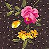 Millefleur - Delicate Floral on Dotted Black
