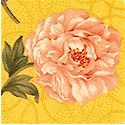 Cotillion Fancy - Tossed Floral on Gold by Ro Gregg